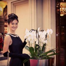 Ирина в черном платье «Завтрак у Тиффани»