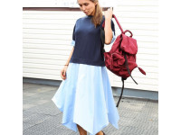 Летнее платье с асимметричной юбкой casual