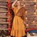 Желтое платье в стиле бохо/кантри из висковзы