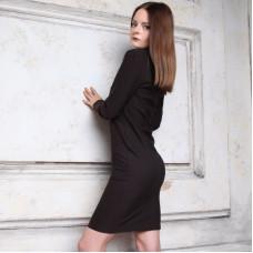 Платье-водолазка коричневое
