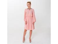 Розовое романтичное платье с бантом