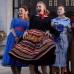 Купить голубое ретро-платье в горошек в стиле «Стиляг»